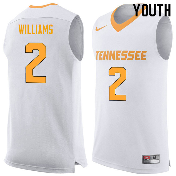 Youth #2 Grant Williams Tennessee Volunteers College Basketball Jerseys Sale-White