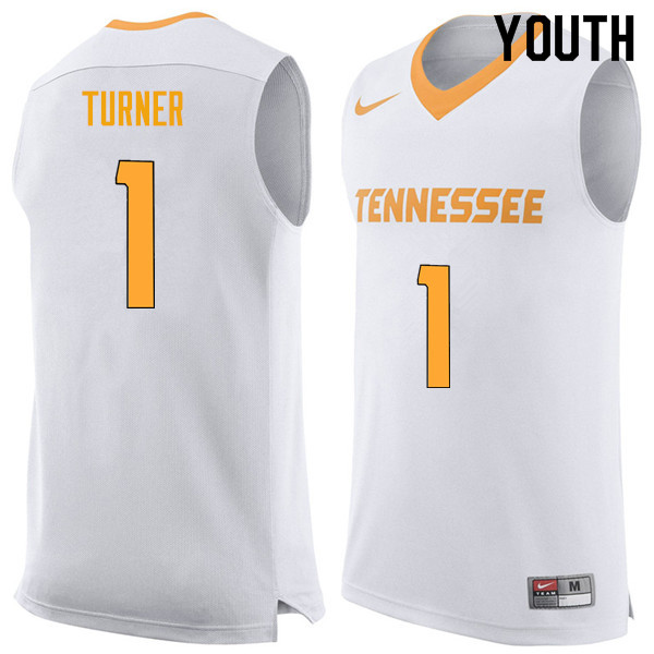 Youth #1 Lamonte Turner Tennessee Volunteers College Basketball Jerseys Sale-White